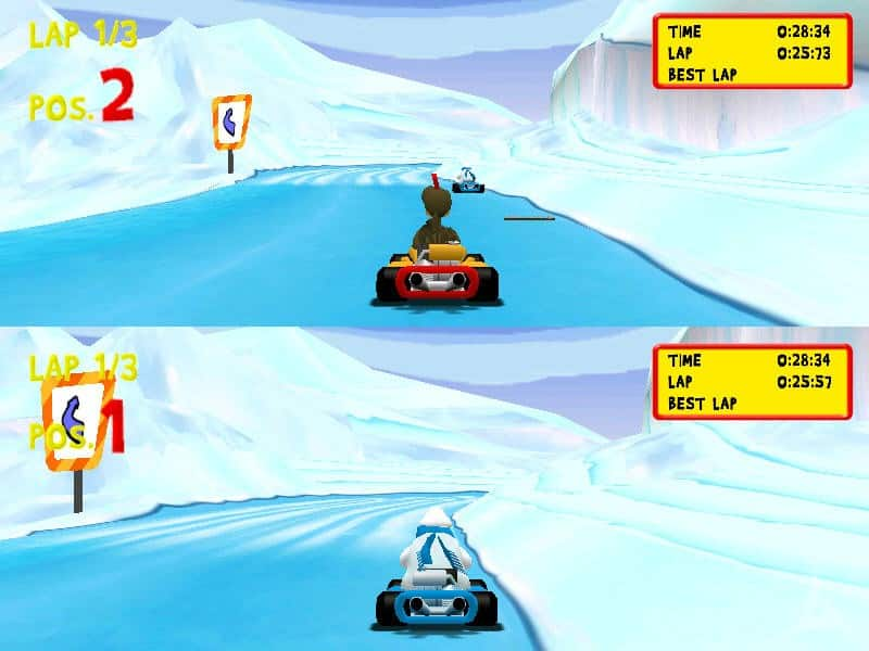 Moorhuhn Kart 2 split screen