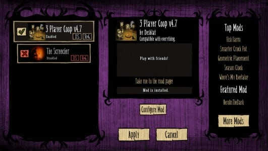 dont starve 3player mod