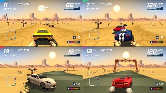 Horizon Chase Turbo splitscreen gameplay 2