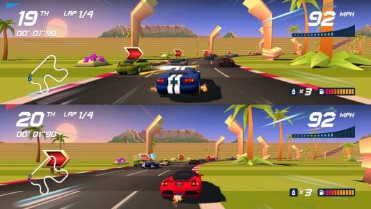 Horizon Chase Turbo splitscreen gameplay